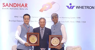 Sandhar Technologies inks JV with Taiwans Whetron Electronics for active safety systems