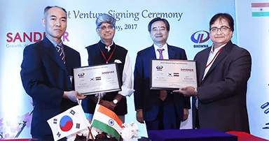 Sandhar signs 50 JV with Daewha